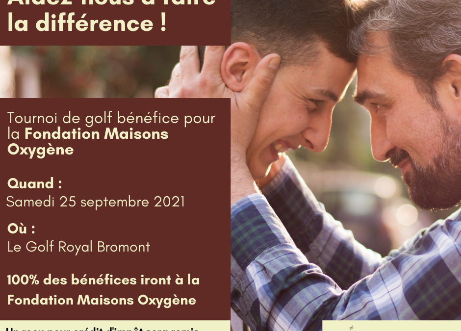 Tournoi de golf de la Fondation Maisons Oxygène
